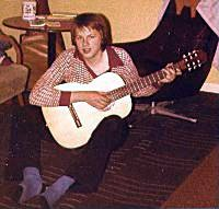 Werner with his acoustic guitar
